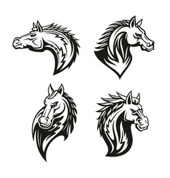 icon heraldic royal horse head vector image