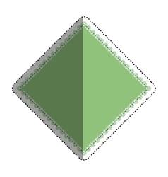 Isolated argyle diamond vector
