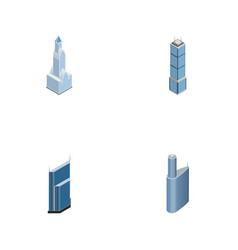 isometric skyscraper set of building residential vector image