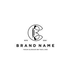 Letter bc logo design template vector