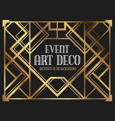 luxury vintage frame art deco style vector image