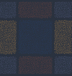 Navy blue abstract geo doodle square grid vector