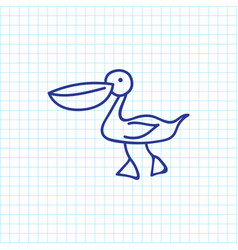 of zoo symbol on waterbird vector image