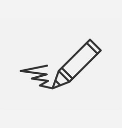 pen icon on white background line style vector image