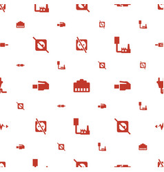 plug icons pattern seamless white background vector image