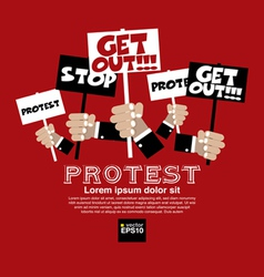 Protest Concept EPS10 vector