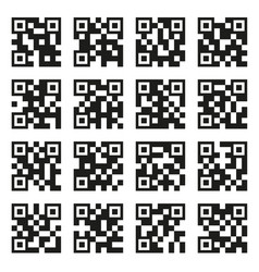 Qr codes set example icons on white background vector