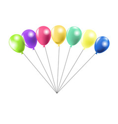 Row of air balloons vector
