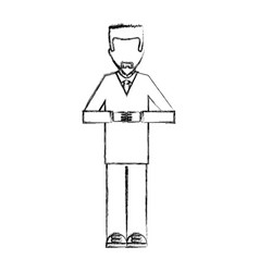 scientific avatar character icon vector image