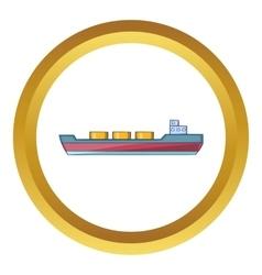 Ship carries cargo icon vector