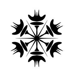 Simple snowflake template vector