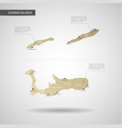stylized cayman islands map vector image