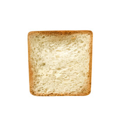 Toast slice realistic composition vector