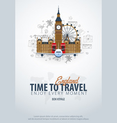travel to england time to travel banner with vector image