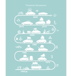 Traveling by car Infographic for your design vector