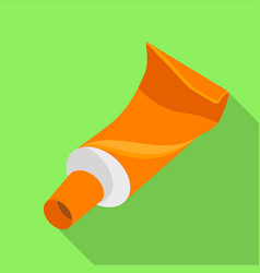 tube paint icon flat style vector image