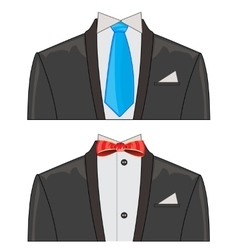 Two suits on white background vector