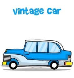 Vintage car cartoon education for kids vector