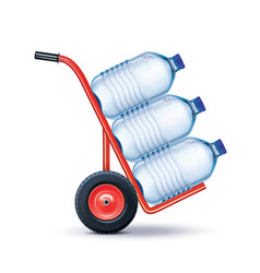 water delivery big plastic bottle potable vector image