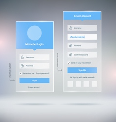 Web Forms vector image