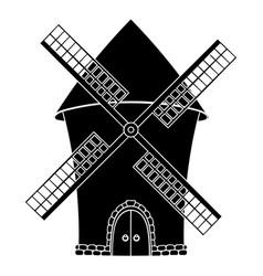 windmill black symbol vector image