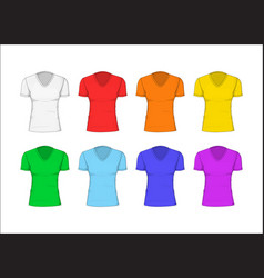 woman t-shirt cotton clothing vector image