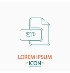 ZIP computer symbol vector