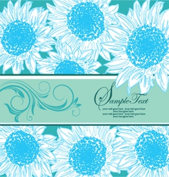 blue floral bridal shower card vector image vector image