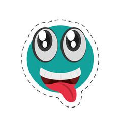 cartoon emoticon happy april fools day vector image