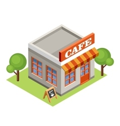 Isometric cafe vector image vector image