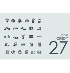 Set of credit icons vector image