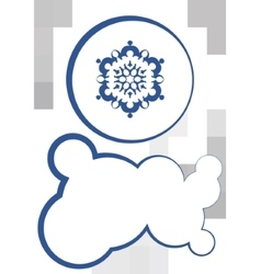 snowflake and textbox vector image