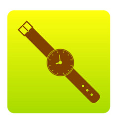watch sign brown icon at vector image vector image