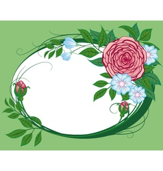 abstract cornflowers and roses the vignette vector image vector image