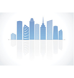 city real estate logo vector image vector image