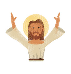 drawing jesus christ design vector image vector image