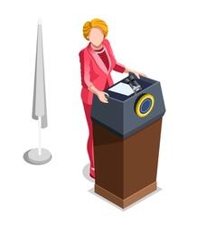 Election Infographic Politics Work Isometric vector image vector image