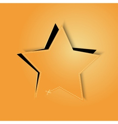 golden paper star vector image