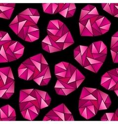 Heart shape symbols isolated on black background vector image