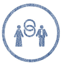 marriage persons rounded fabric textured icon vector image vector image