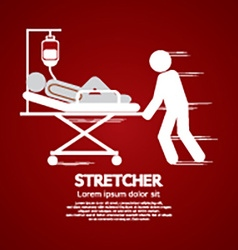Medical Workers Moving Patient On Stretcher vector image vector image