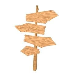New wooden cartoon pointer vector image vector image