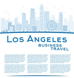 Outline Los Angeles Skyline vector image