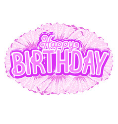 pink birthday congratulation for a little princess vector image vector image