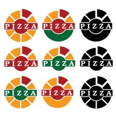 pizza set design template vector image vector image