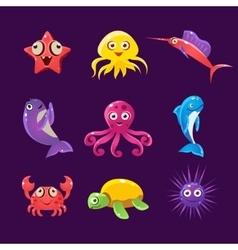 Baby Sea Creatures Set vector image