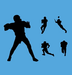 football collection vector image vector image
