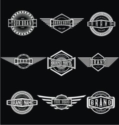 Vintage badge labels vector