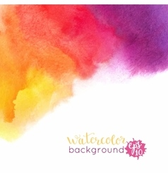 Watercolor bright hand painted background vector image vector image