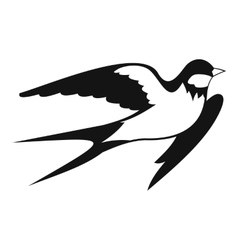 Barn swallow icon simple style vector image